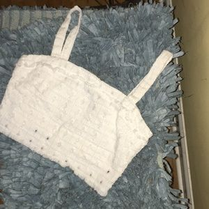 White bra-let size S